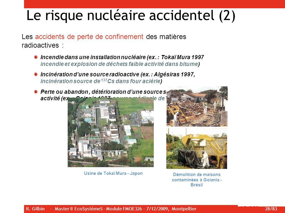 Le risque nucléaire accidentel (2)