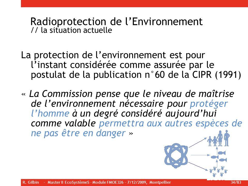 Radioprotection de l'Environnement // la situation actuelle