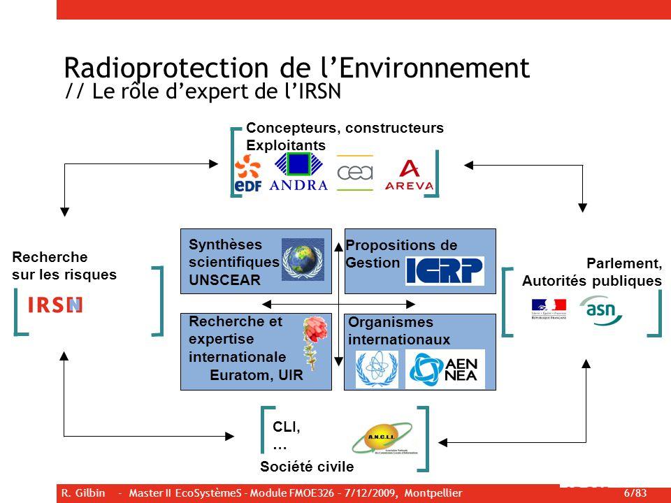 Radioprotection de l'Environnement // Le rôle d'expert de l'IRSN