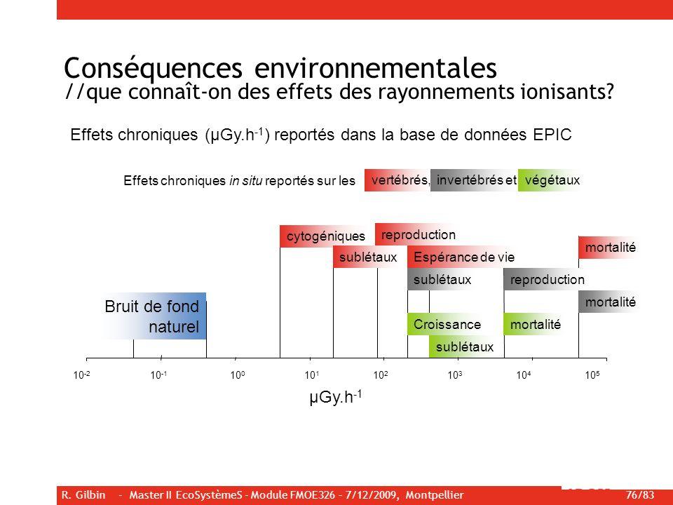 Conséquences environnementales //que connaît-on des effets des rayonnements ionisants