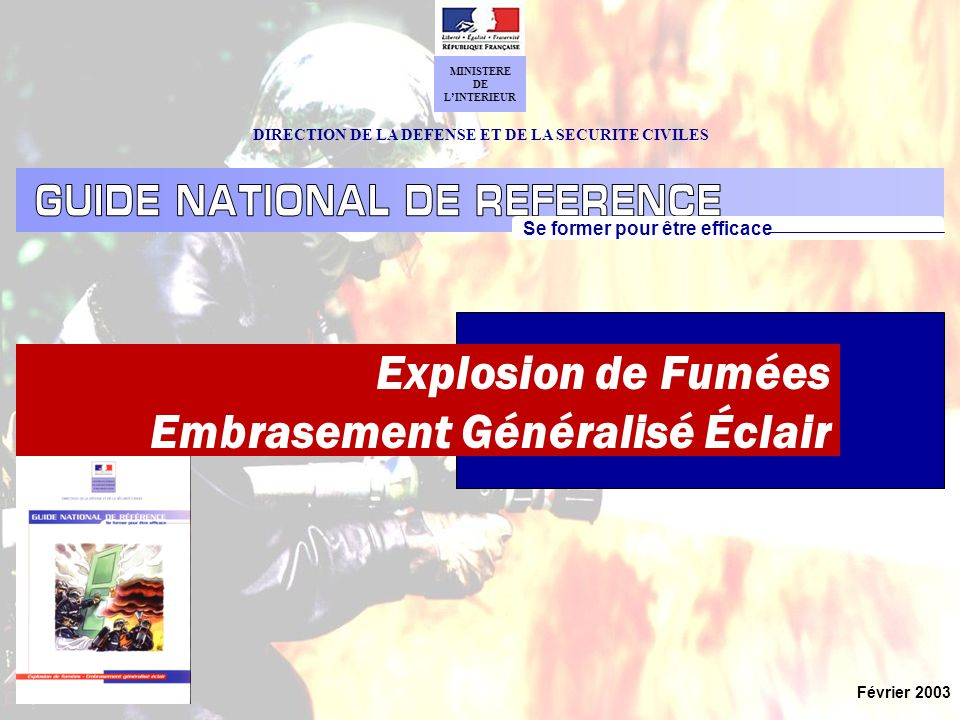 Explosion de Fumées Embrasement Généralisé Éclair