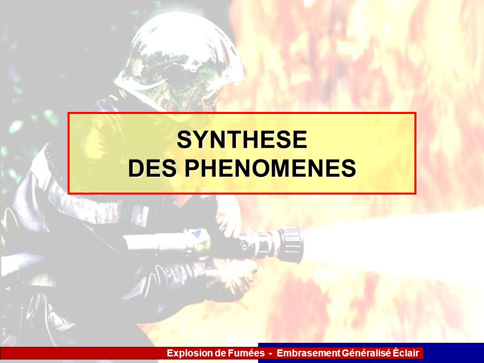 SYNTHESE DES PHENOMENES