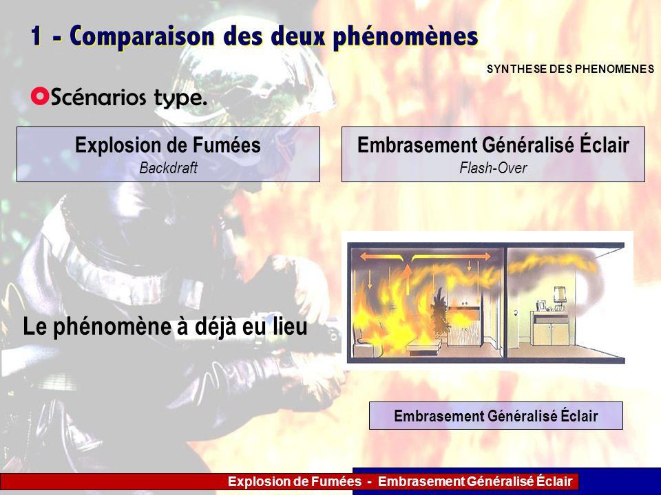 1 - Comparaison des deux phénomènes