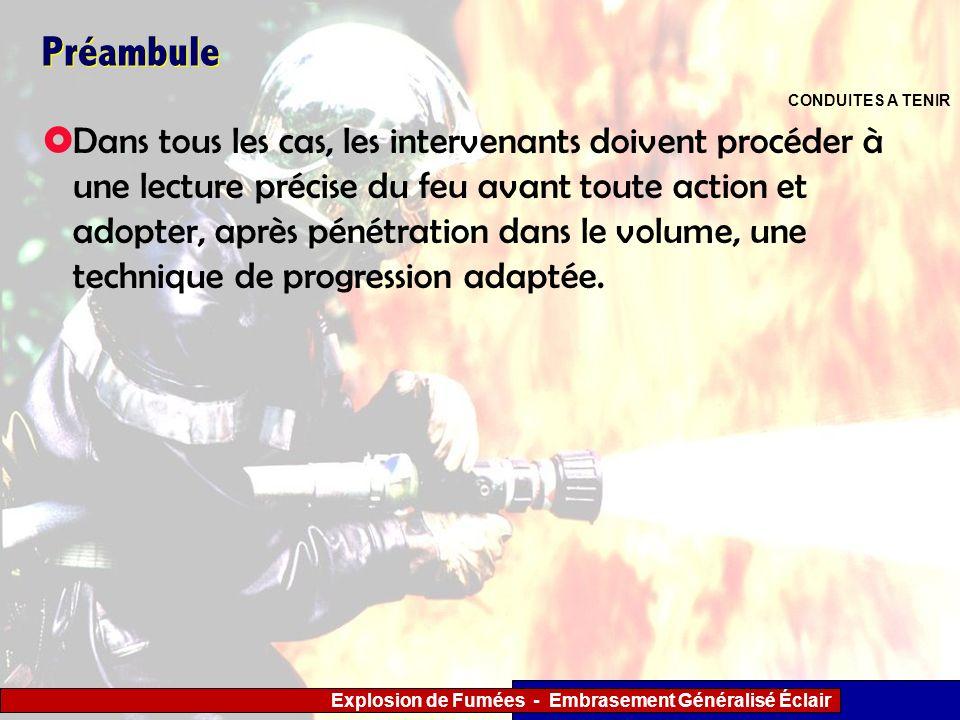 Préambule CONDUITES A TENIR.