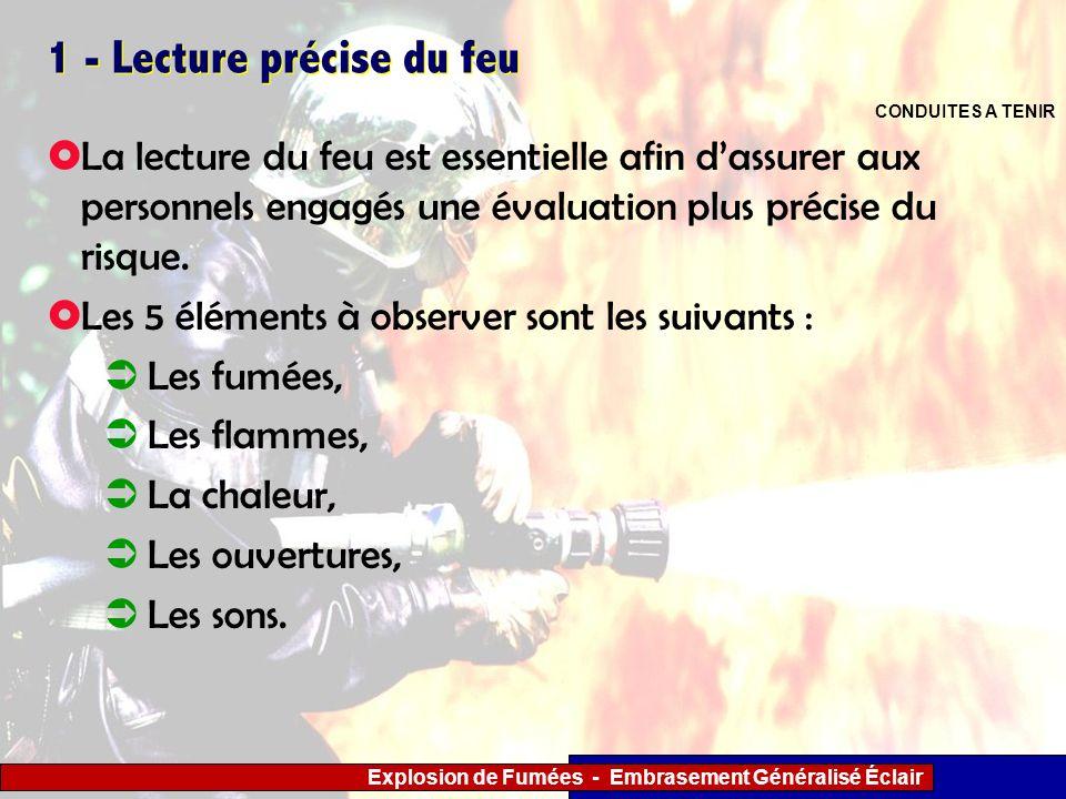 1 - Lecture précise du feu