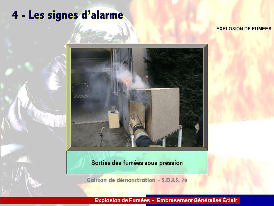 Sorties des fumées sous pression