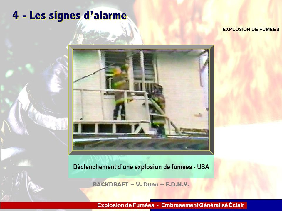 Déclenchement d'une explosion de fumées - USA