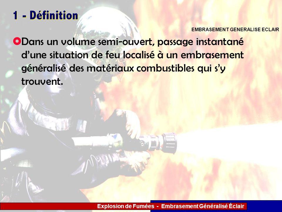 1 - Définition EMBRASEMENT GENERALISE ECLAIR.