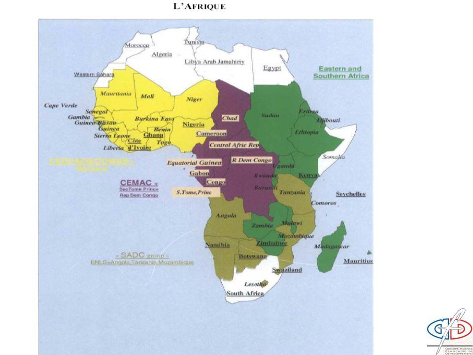 Af Ouest : Cap Vert Af centrale : RDC.