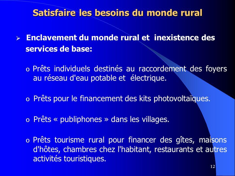 Satisfaire les besoins du monde rural