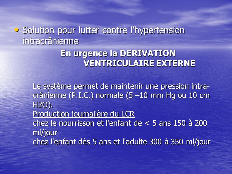 Solution pour lutter contre l'hypertension intracrânienne