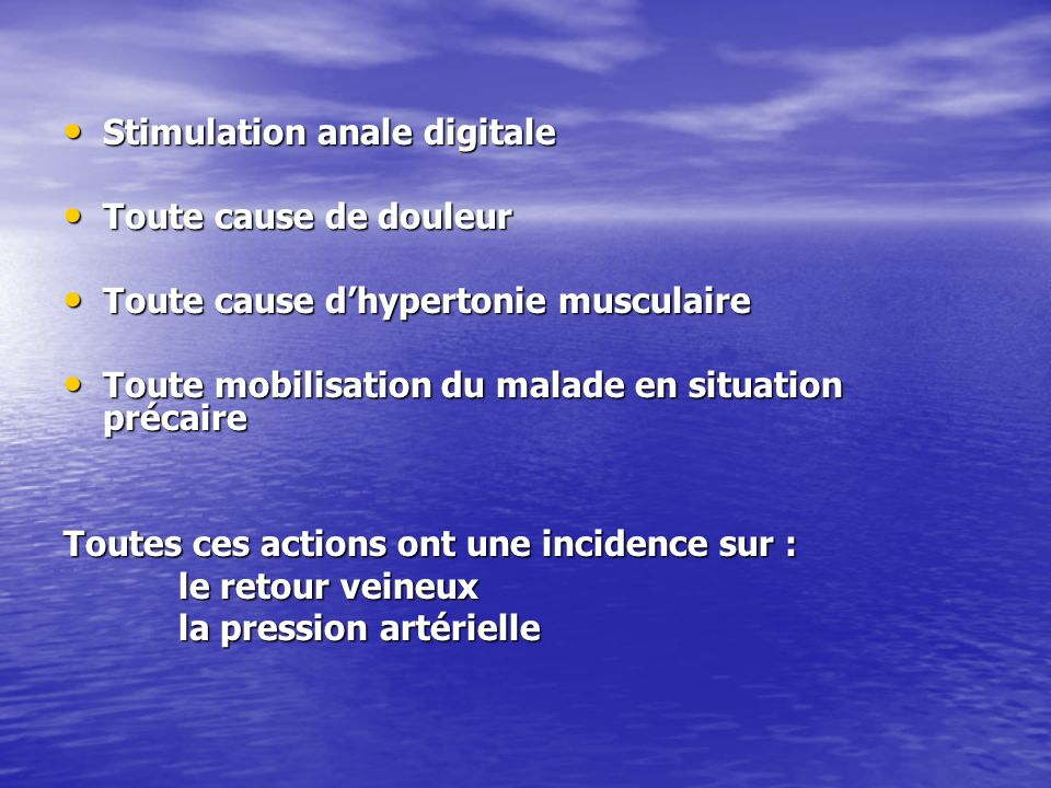 Stimulation anale digitale