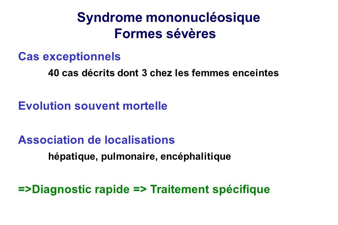 Syndrome mononucléosique