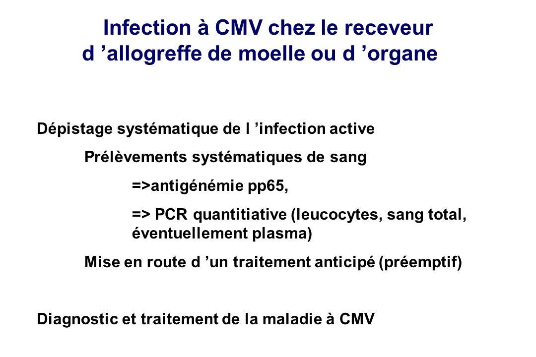 Infection à CMV chez le receveur d 'allogreffe de moelle ou d 'organe