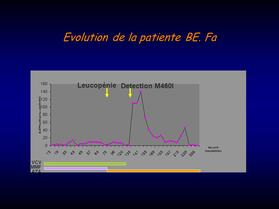 Evolution de la patiente BE. Fa