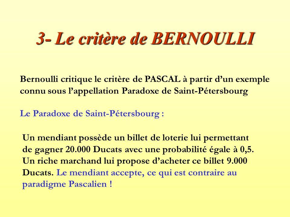3- Le critère de BERNOULLI