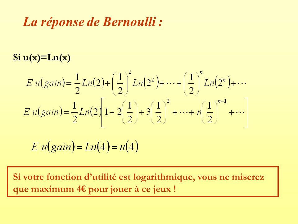 La réponse de Bernoulli :