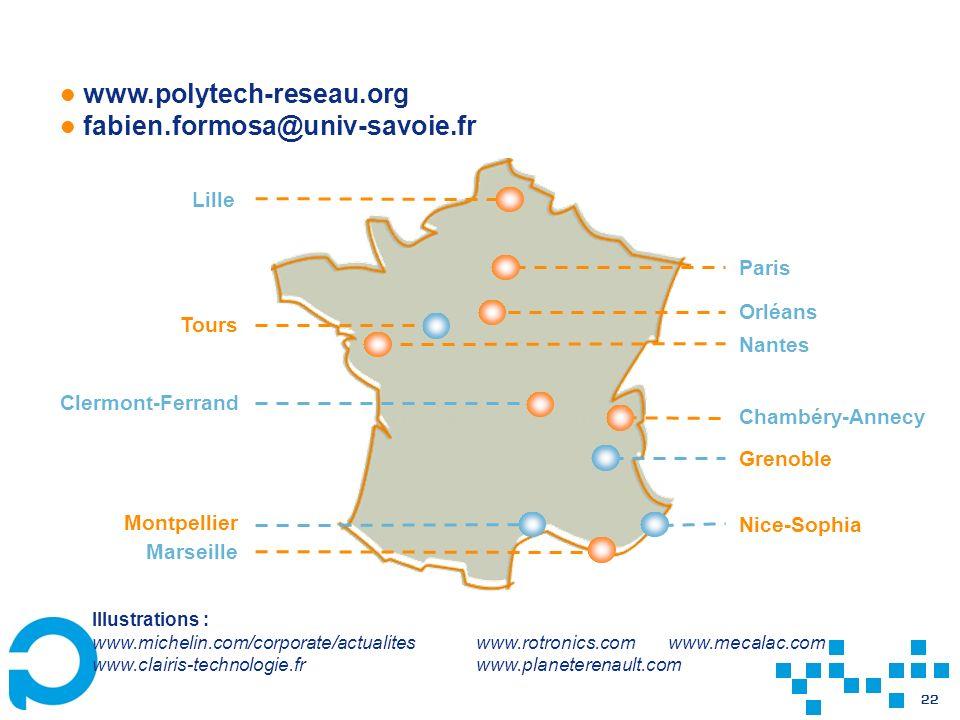 www.polytech-reseau.org fabien.formosa@univ-savoie.fr. Lille. Paris. Orléans. Tours. Nantes. Clermont-Ferrand.