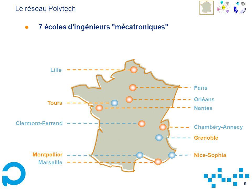 Le réseau Polytech 7 écoles d ingénieurs mécatroniques Lille. Paris. Orléans. Tours. Nantes.