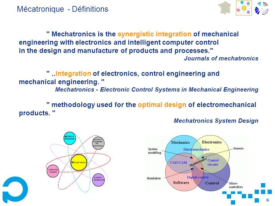 Mécatronique - Définitions