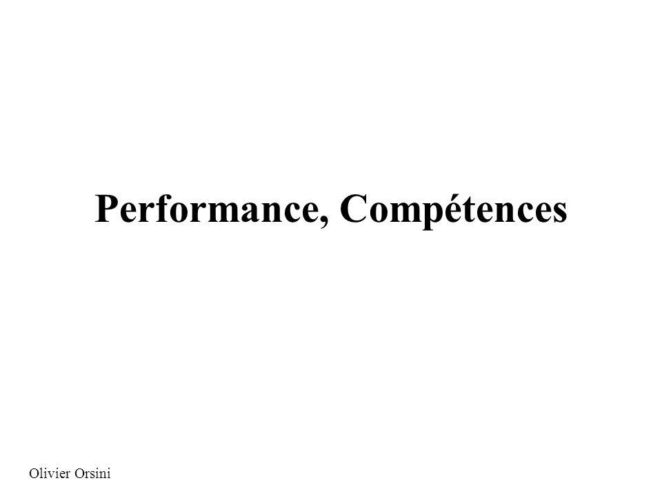 Performance, Compétences