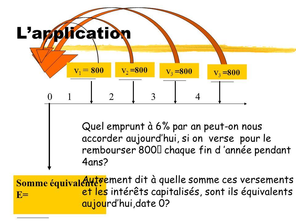 L'application v1 = 800 v2 =800 v3 =800 v3 =800 1 2 3 4