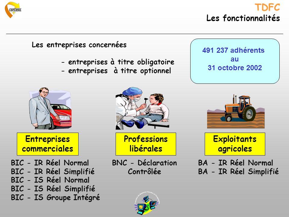 TDFC Les fonctionnalités