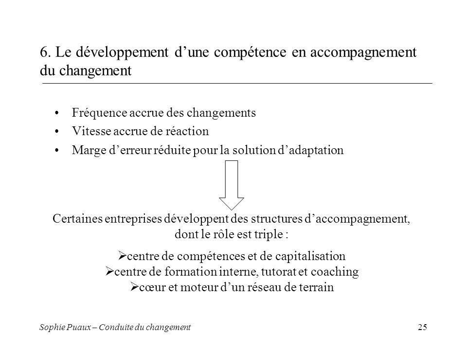 6. Le développement d'une compétence en accompagnement du changement