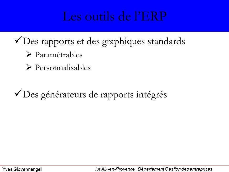 Les outils de l'ERP Des rapports et des graphiques standards