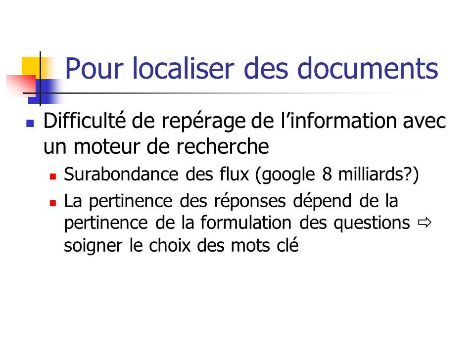 Pour localiser des documents