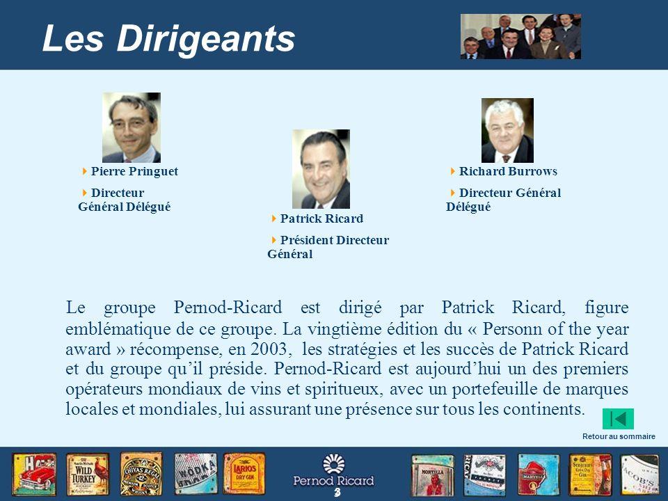 Les Dirigeants Pierre Pringuet. Directeur Général Délégué. Richard Burrows. Directeur Général Délégué.