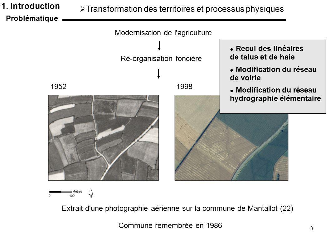 Transformation des territoires et processus physiques