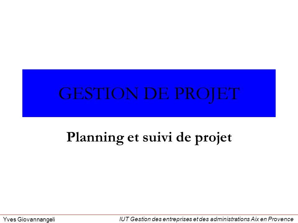 Planning et suivi de projet