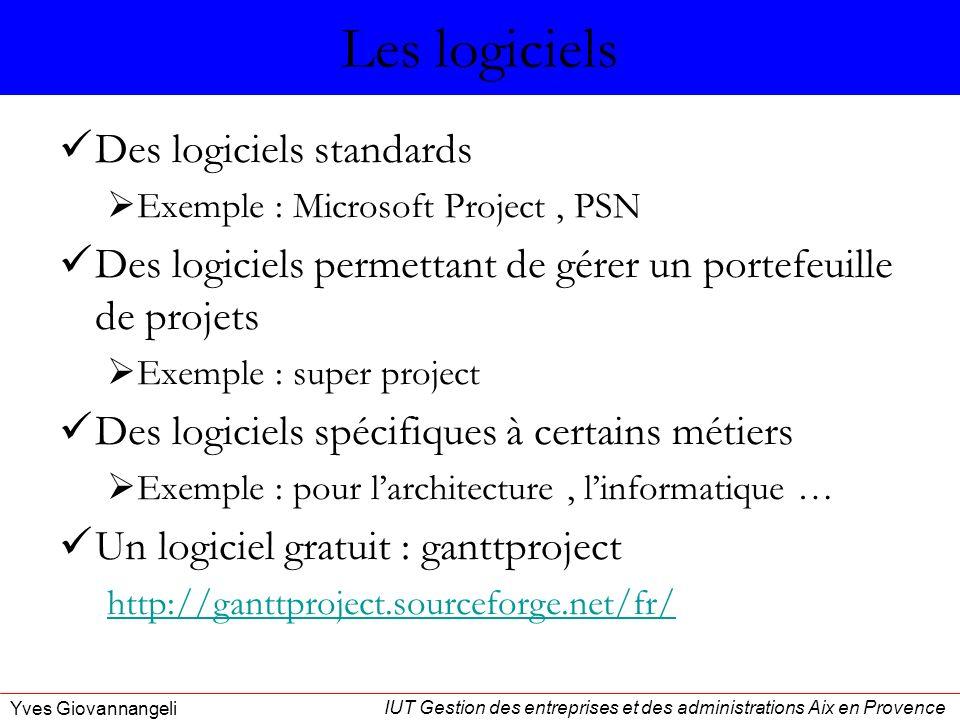Les logiciels Des logiciels standards