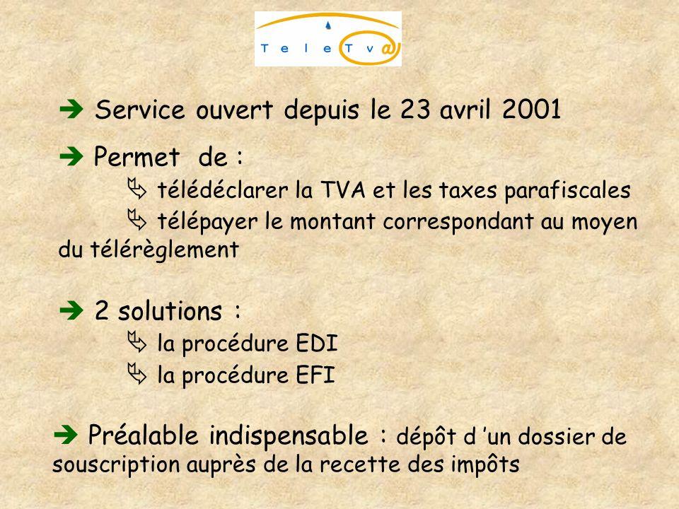  Service ouvert depuis le 23 avril 2001