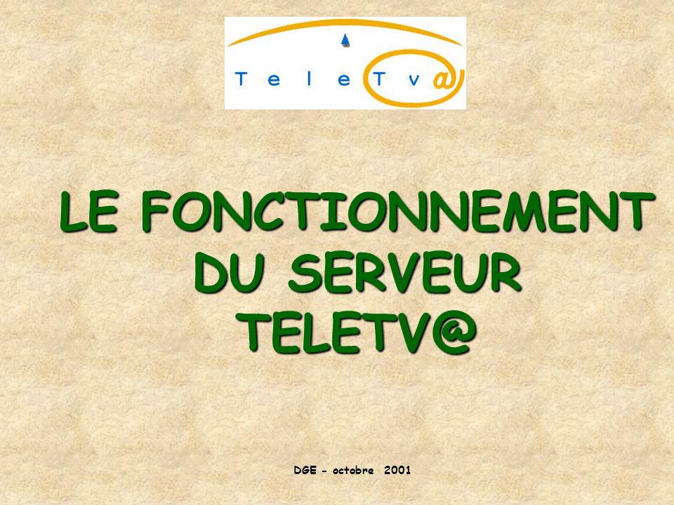 LE FONCTIONNEMENT DU SERVEUR TELETV@