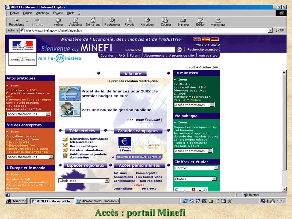 Accès : portail Minefi