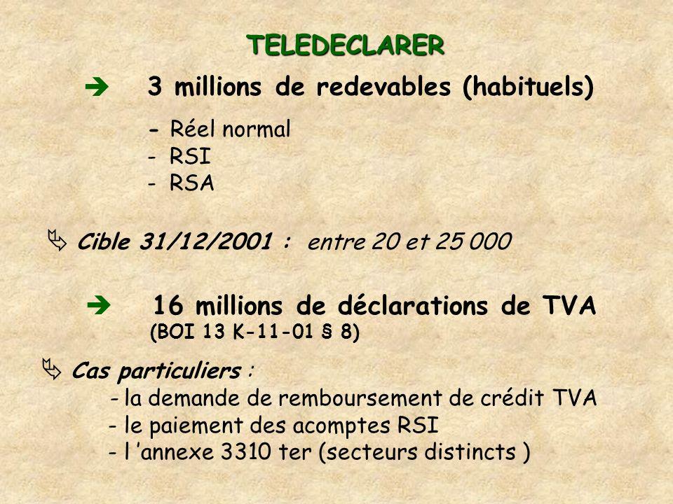 3 millions de redevables (habituels)