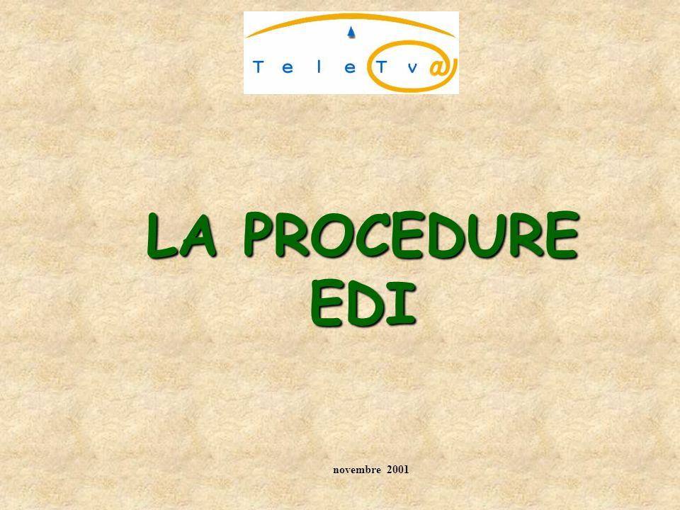 LA PROCEDURE EDI novembre 2001