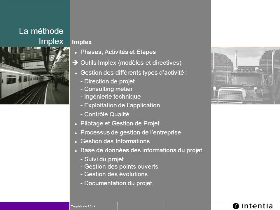 La méthode Implex Implex Phases, Activités et Etapes