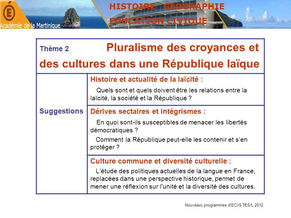 des cultures dans une République laïque
