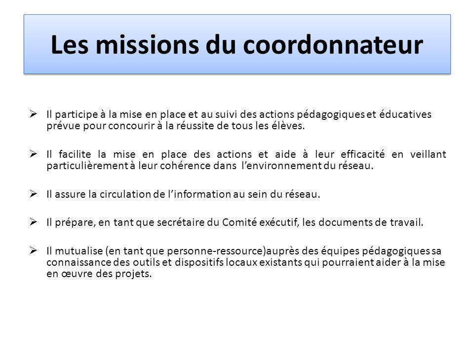Les missions du coordonnateur