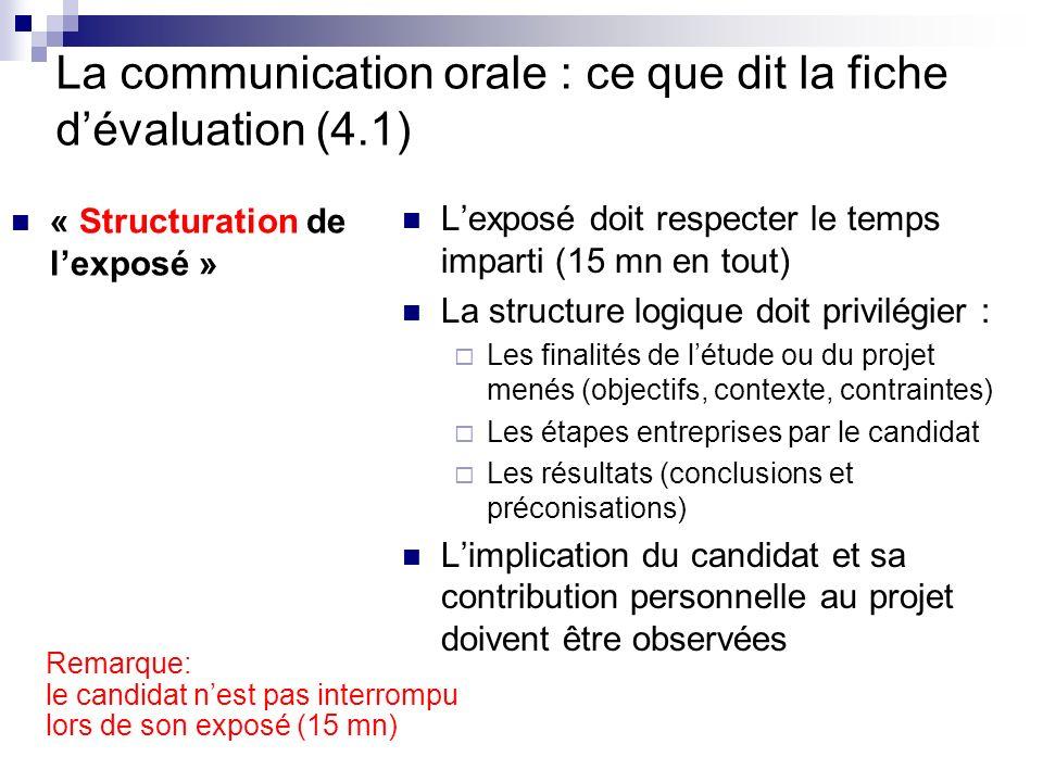 La communication orale : ce que dit la fiche d'évaluation (4.1)