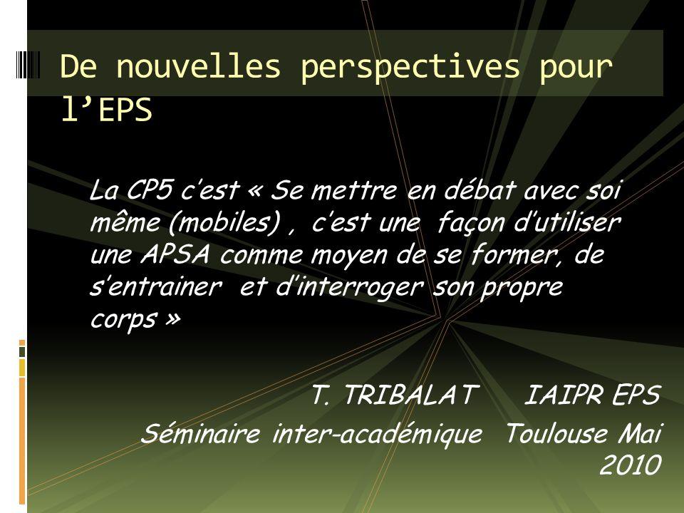 De nouvelles perspectives pour l'EPS