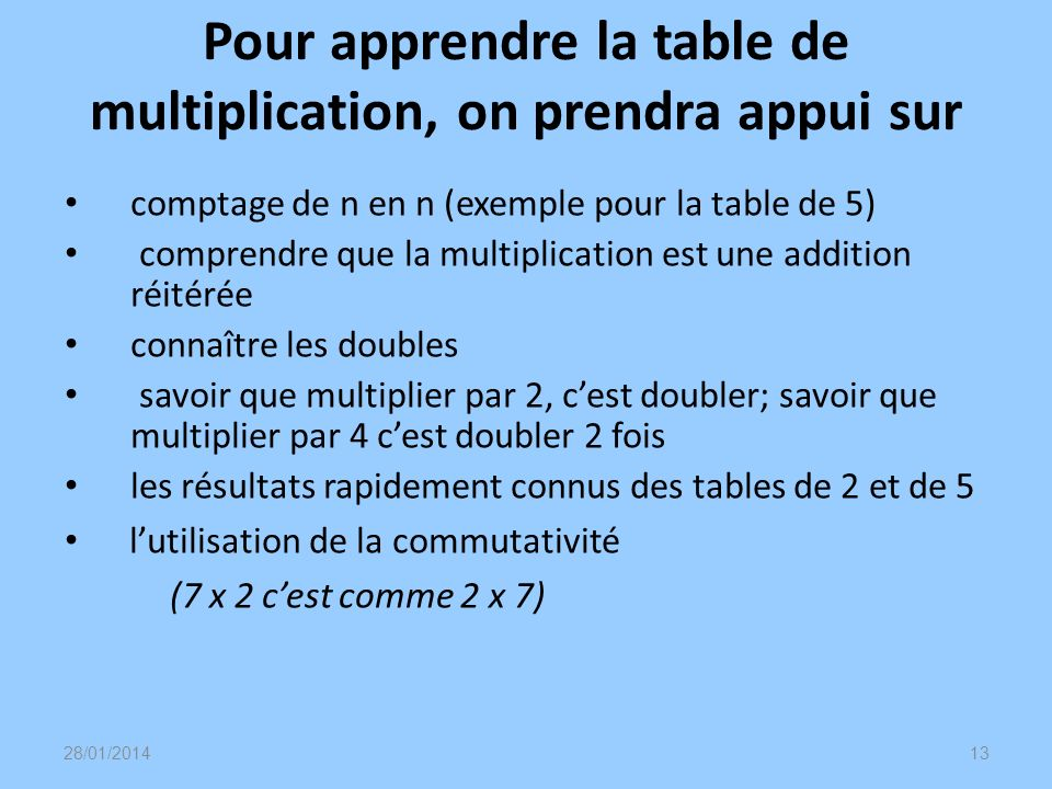 Animation math matiques calcul mental au cycle 3 ppt for Apprendre la table de 6