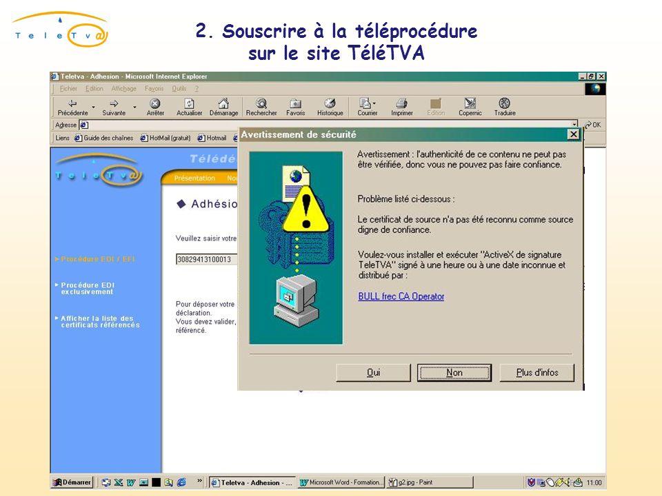 Présentation du certificat numérique