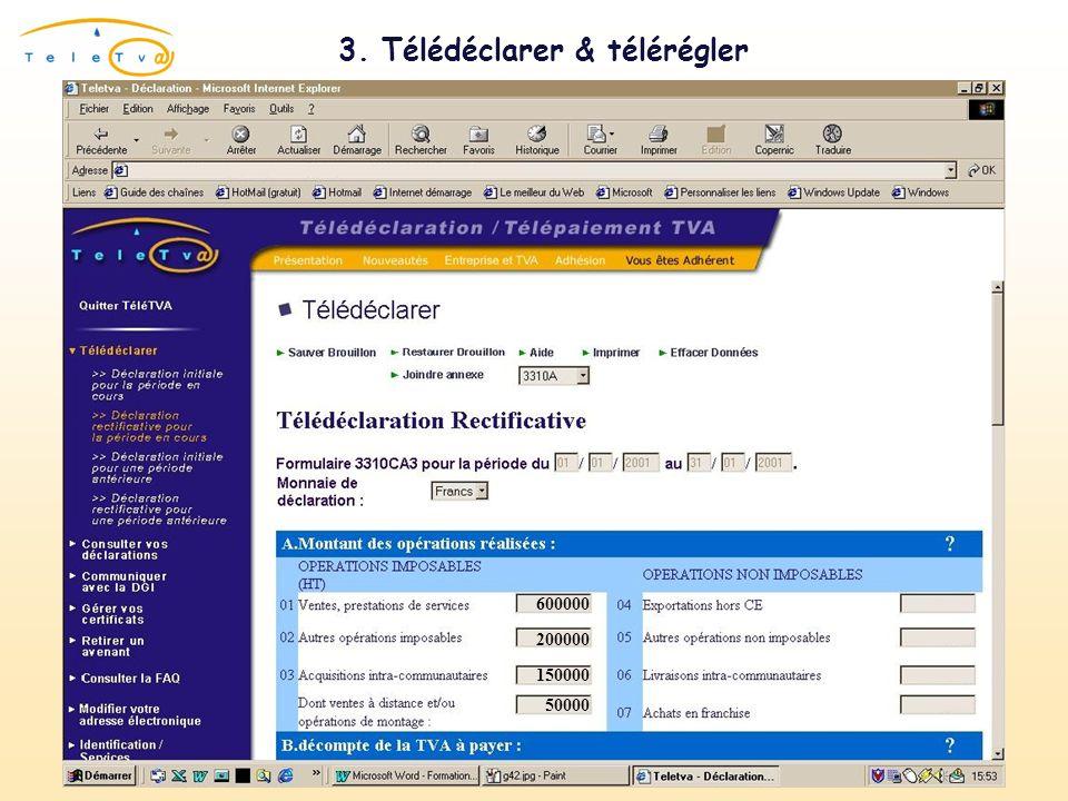 3. Télédéclarer & télérégler