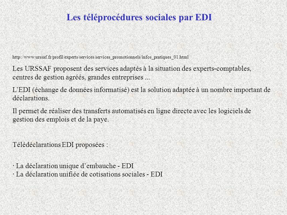Les téléprocédures sociales par EDI