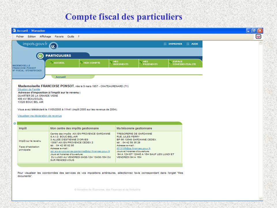 Compte fiscal des particuliers