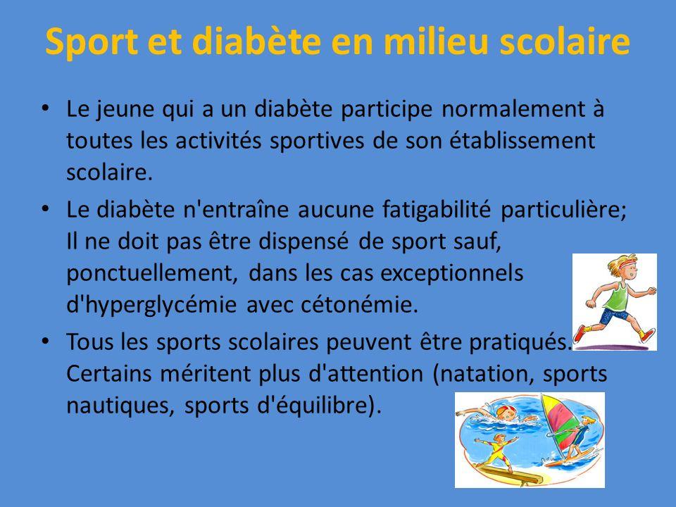 Sport et diabète en milieu scolaire